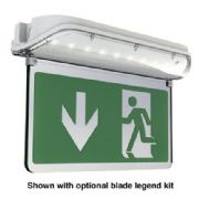 AHARLED/3M/ST LED Surface IP65 Self Test Blade Exit Sign